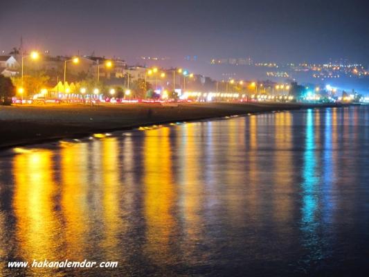 Samsun - Atakum Sahilden Gece görünüşü