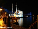 Gece Ortaköy Mecidiye Camii ve Boğaziçi Köprüsü