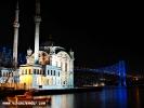Gece Ortaköy Mecidiye Camii ve Boğaziçi Köprüsü 3