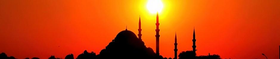 Eminönü Yeni Camii ve gün batımı