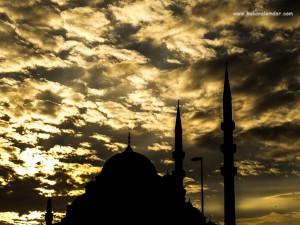 Günbatımında Eminönü Yeni Camii - İstanbul 2014