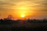 Bafra yolunda gün batımı